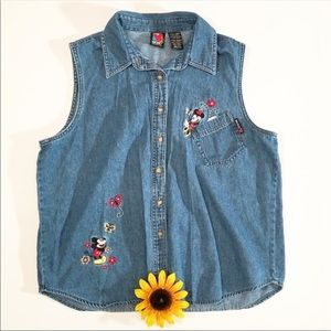Mickey Unlimited Mickey Mouse denim tank top XL
